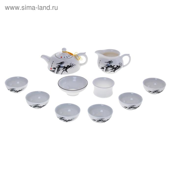"Набор для чайной церемонии 10 предметов ""Бамбук"" (чайник 250 мл, чахай 150 мл, чашка 50 мл)"