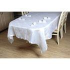 Набор столовый VEROLLI СЕРДЦЕ с кольцами, скатерть 160х220 см, салфетки 35х35 см-8 шт., цвет белый