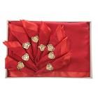 Набор столовый VEROLLI СЕРДЦЕ с кольцами, скатерть 160х220 см, салфетки 35х35 см-8 шт., цвет красный