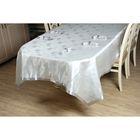 Набор столовый VEROLLI СЕРДЦЕ с кольцами, скатерть 160х220 см, салфетки 35х35 см-8 шт., цвет серебро