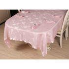 Набор столовый VEROLLI СЕРДЦЕ с кольцами, скатерть 160х220 см, салфетки 35х35 см-8 шт., цвет розовый