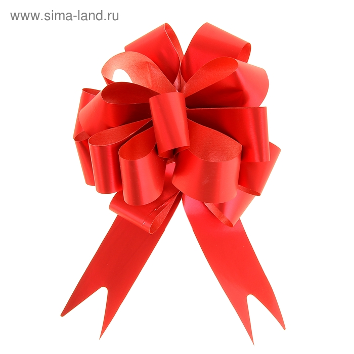 "Бант-шар №3 ""Классика"", цвет красный"