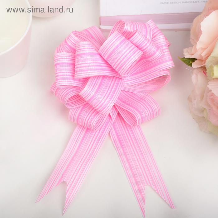 """Бант-шар №3 """"Тонкие полоски"""", цвет розовый"""