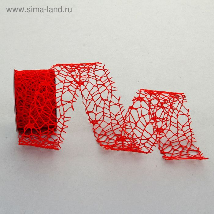 """Лента упаковочная """"Ажур"""", цвет красный"""