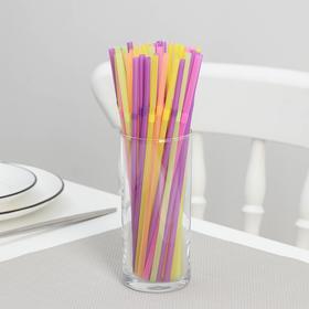 Трубочки для коктейля 21 см, гофрированные, набор 50 шт