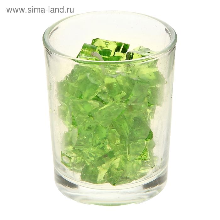"""Свеча гелевая """"Мармелад"""", цвет зеленый"""