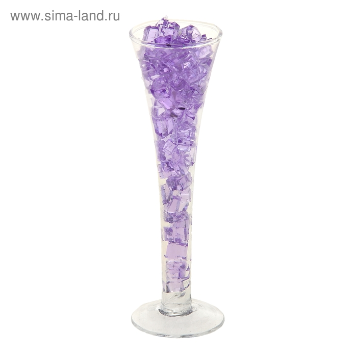 """Свеча гелевая (набор 2шт) """"Коктейль в бокале"""", цвет фиолетовый"""