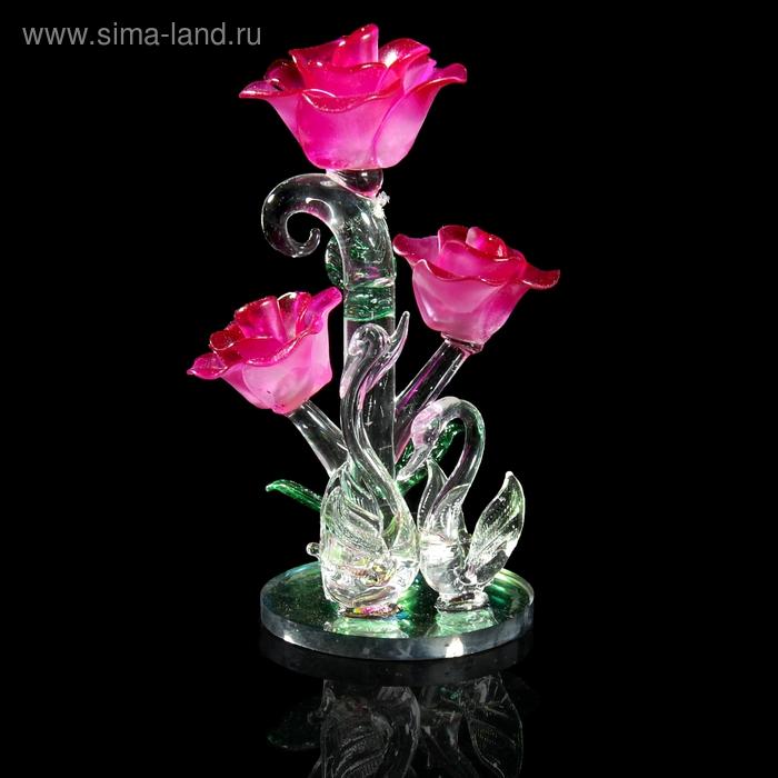 """Сувенир """"Лебеди у куста роз"""""""