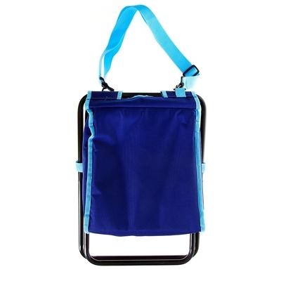 Сумка-холодильник со стульчиком Premium 6, цвет синий