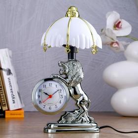 """Часы-светильник """"Царь зверей"""", с будильником, 27х12 см"""
