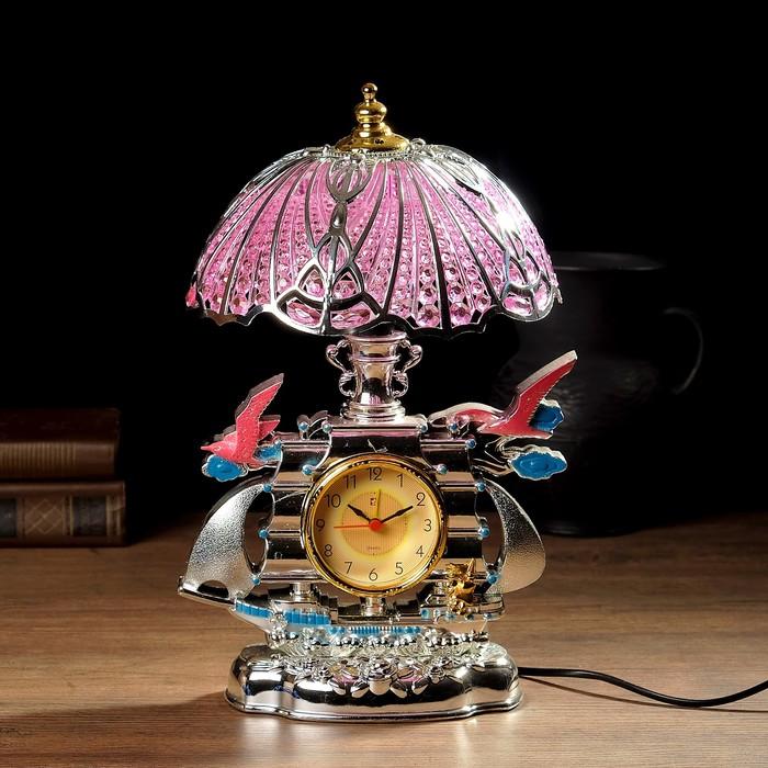 """Часы-светильник """"Ислета"""", настольные, 33х20 см, микс"""