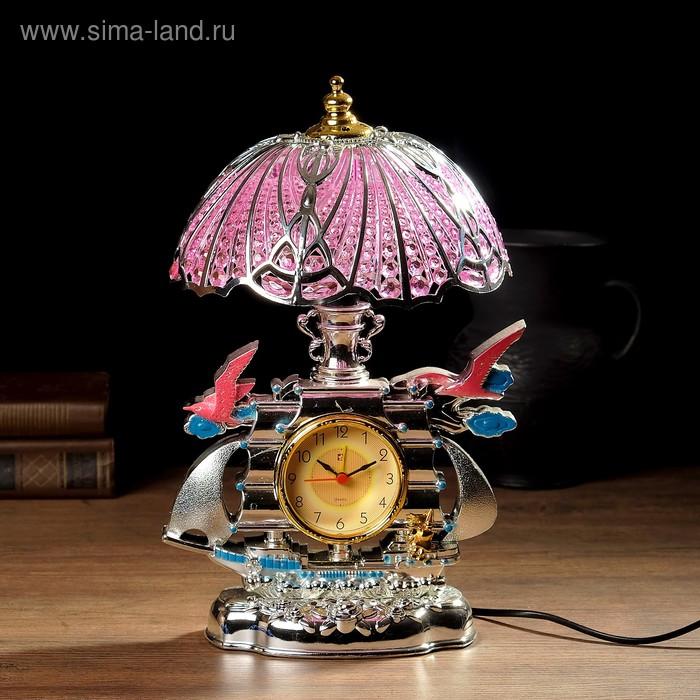 """Часы-светильник с будильником """"Корабль с чайками"""""""