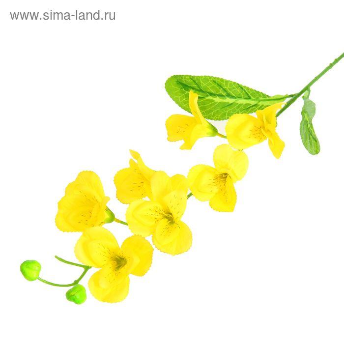 """Цветы искусственные """"Орхидея Зигзаг"""" жёлтая"""
