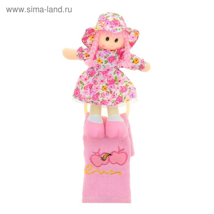 """Мягкая игрушка кукла держатель+полотенце """"Наташка"""", цвета МИКС"""
