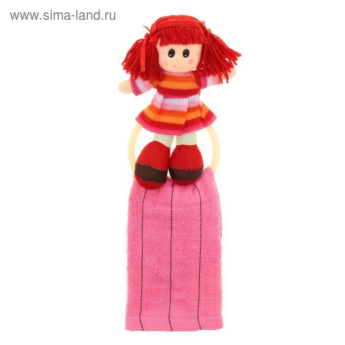 """Мягкая игрушка кукла держатель+полотенце """"Катя"""", цвета МИКС"""