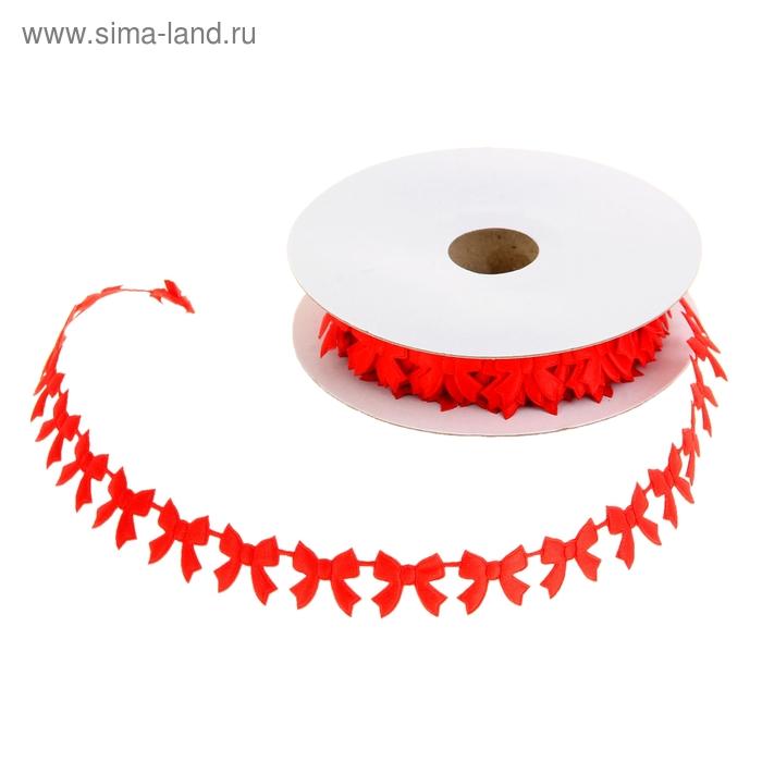 """Лента декоративная """"Бантики"""", цвет красный"""