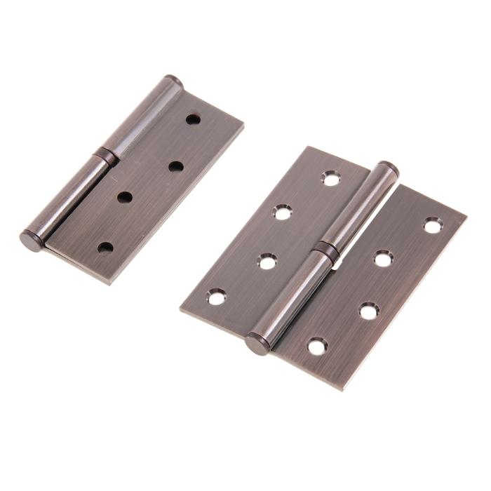 Набор петель дверных разъёмных 1BB, 100х75х2.5 мм, правая, цвет медь, 2 шт.