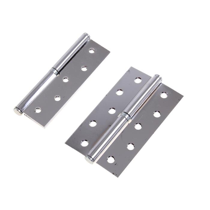 Набор петель дверных разъёмных 1BB, 125х75х2.5 мм, левые, цвет хром, 2 шт.