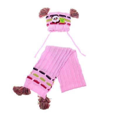 Комплект дет.зимний Коала:шапка, шарф, объем головы 46-48см (1-2года)  МИКС