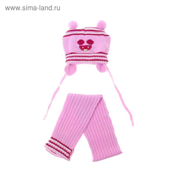 Комплект дет.зимний Мышонок:шапка, шарф, объем головы 46-48см (1-2года)