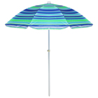 Зонт пляжный «Модерн» с механизмом наклона, серебряным покрытием, d=150 cм, h=170 см, МИКС