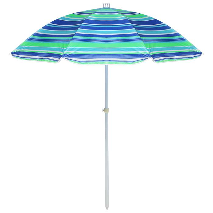 """Зонт пляжный """"Модерн"""" с механизмом наклона, серебряным покрытием, d=160 cм, h=170 см, МИКС"""