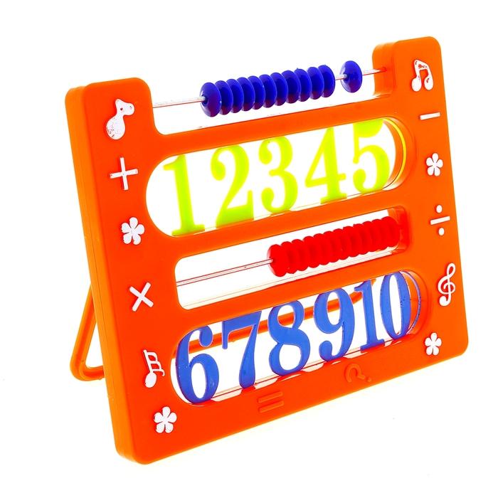 Счеты на подставке с цифрами, цвета МИКС