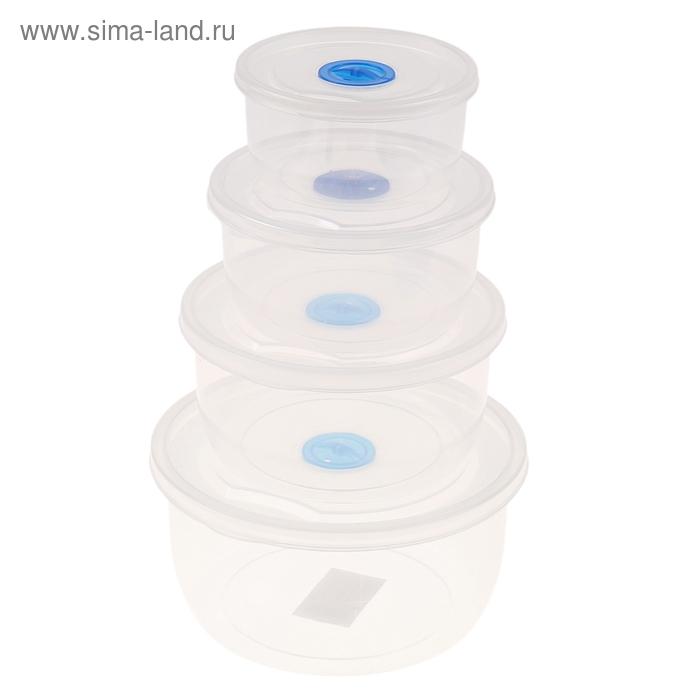 """Набор контейнеров пищевых с крышками """"Танди"""", 4 шт."""