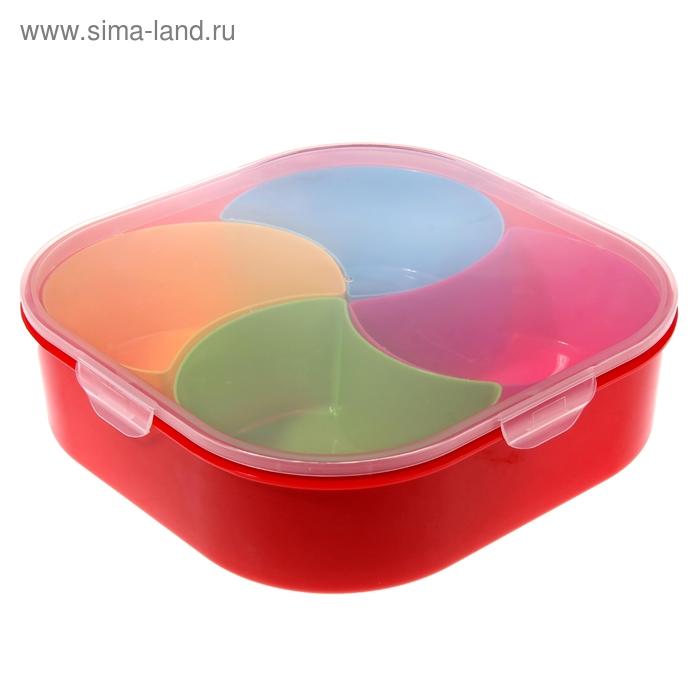 """Набор ёмкостей в контейнере """"Семицветик"""" 4 в 1, форма капля"""