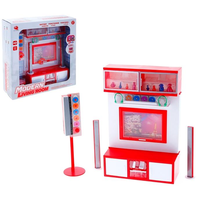 """Набор мебели """"Гостинная"""" с телевизором и колонками, звуковые эффекты"""