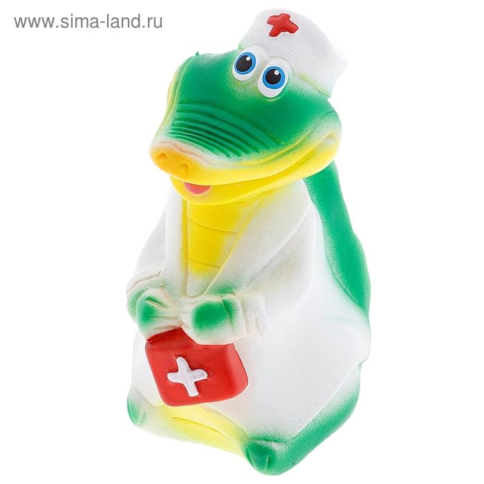 """Резиновая игрушка """"Крокодил-врач"""""""