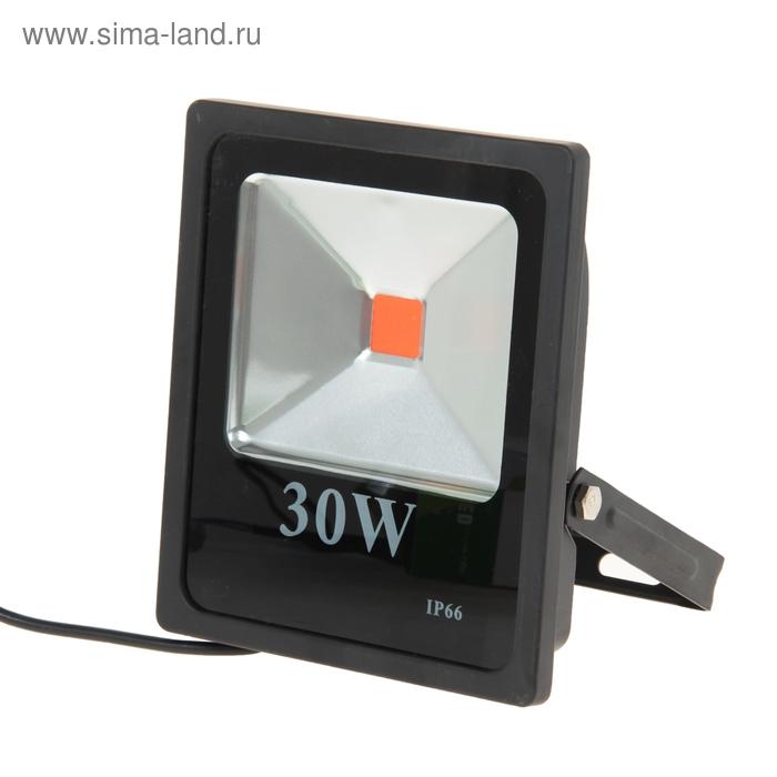 Прожектор светодиодный серия SLIM 30W, IP66, 2700Lm, КРАСНЫЙ