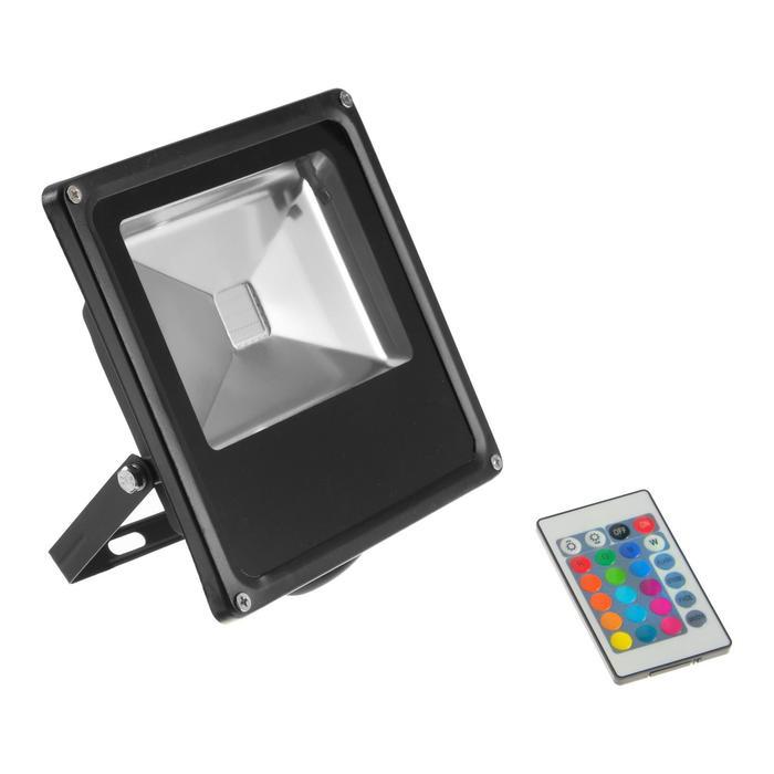 Прожектор светодиодный 50W, с пультом, IP66, 220 В, RGB
