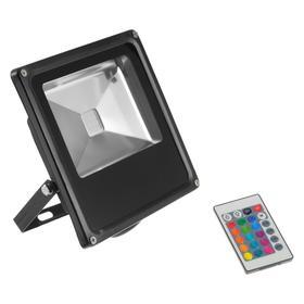 Прожектор светодиодный 30W, COB LED, с пультом, IP66, 220 В, RGB