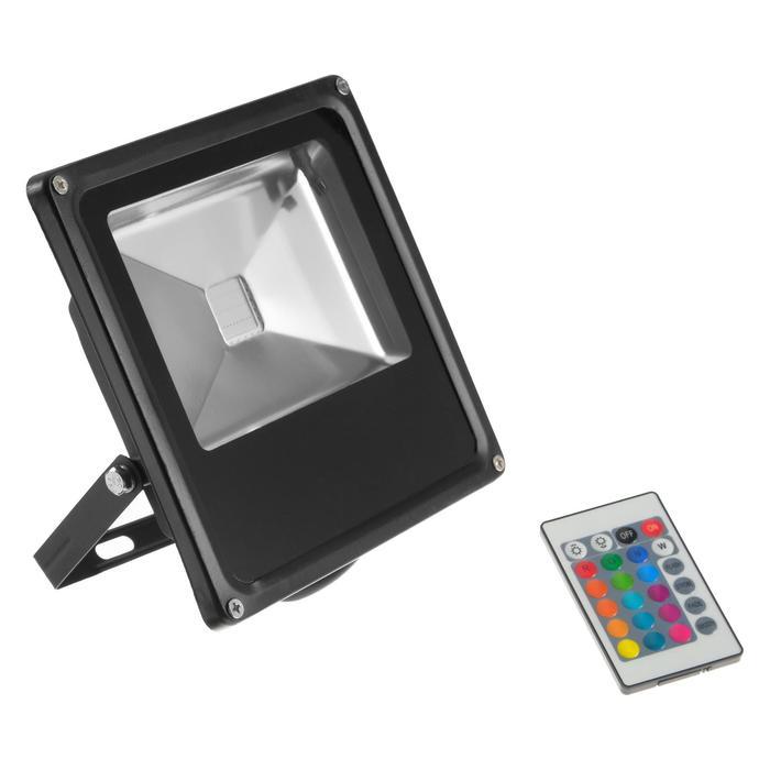 Прожектор светодиодный 30W, с пультом, IP66, 220 В, RGB