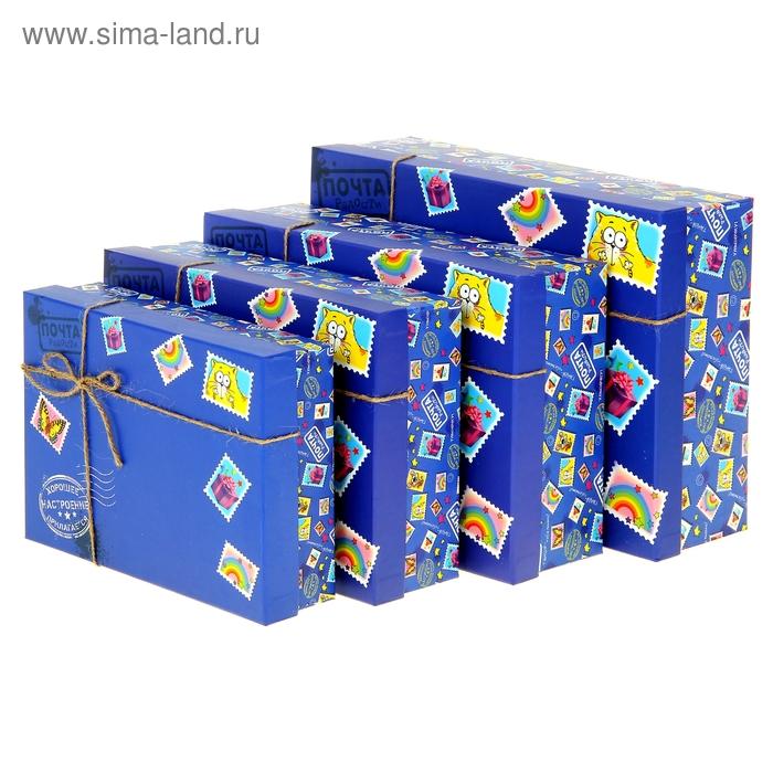"""Набор подарочных коробок 4 в1 """"Почта радости"""""""