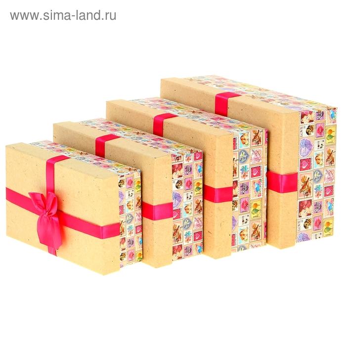 """Набор подарочных коробок 4 в1 """"Марки"""""""