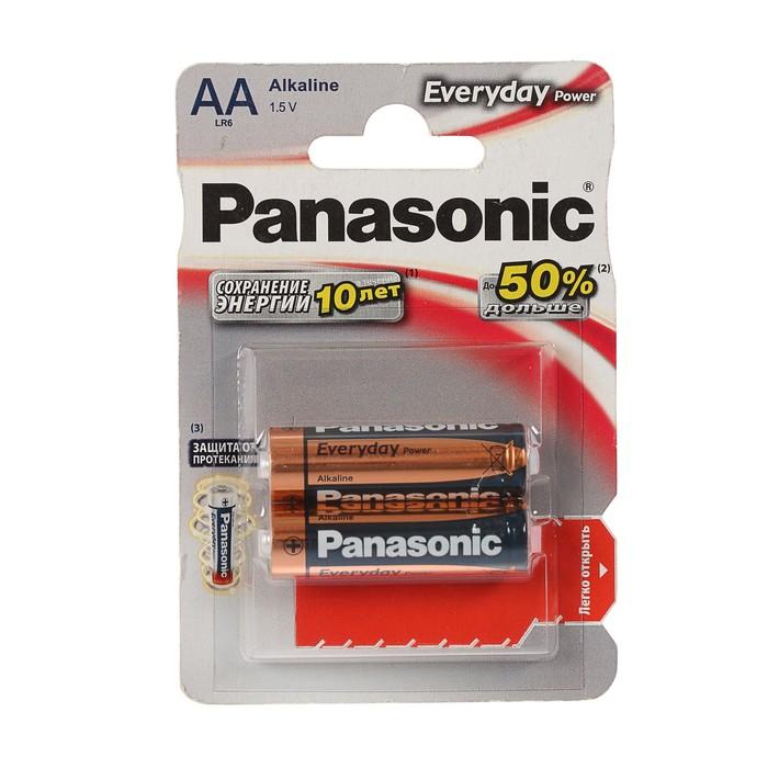 Батарейка Panasonic Everyday Power, AA, LR06-2BL, блистер, 2 шт