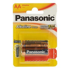 Батарейка алкалиновая Panasonic LR06 Alkaline Power, блистер, 2 шт, Ош