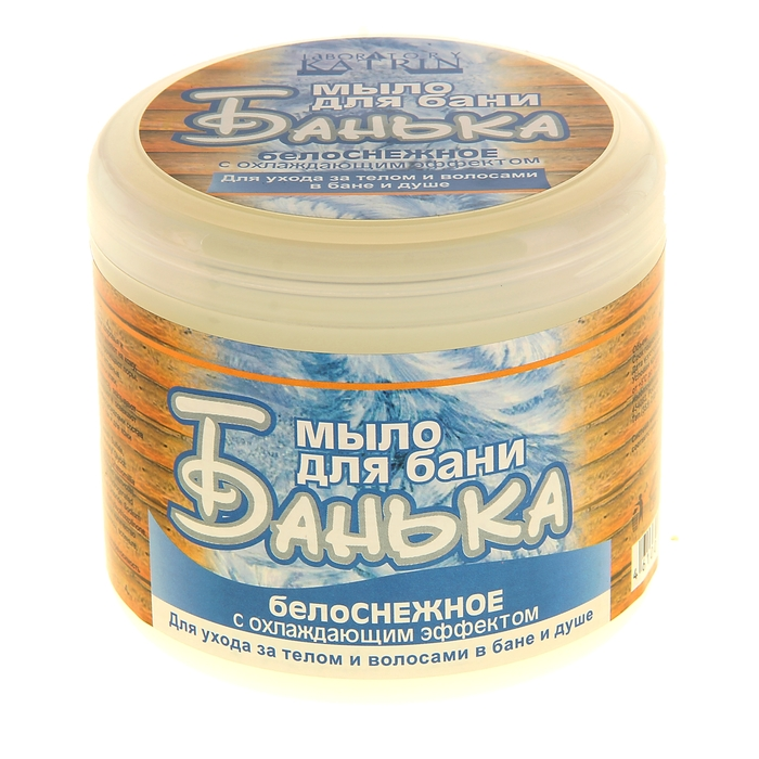 Мыло густое для бани  Белоснежное с охлаждающим эффектом, 450 мл