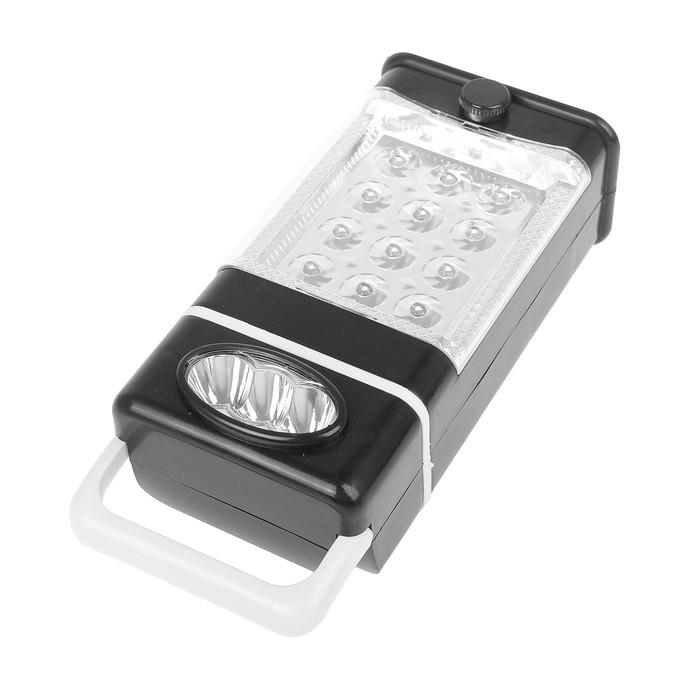 Фонарь переносной, туристический, 2 типа освещения, 15 LED, 3 СС, микс, 9х18 см