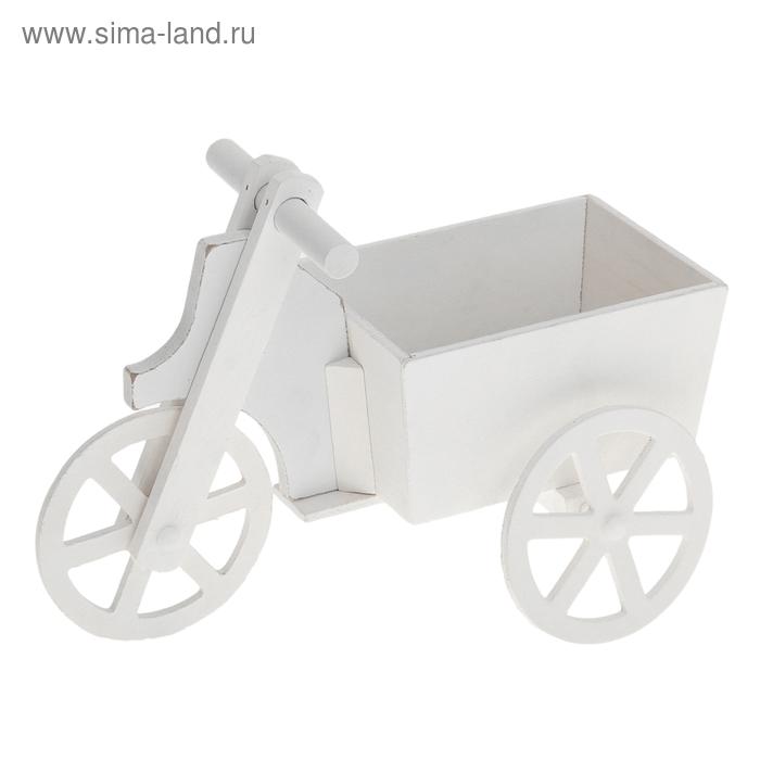 """Кашпо """"Велосипед"""" белое"""