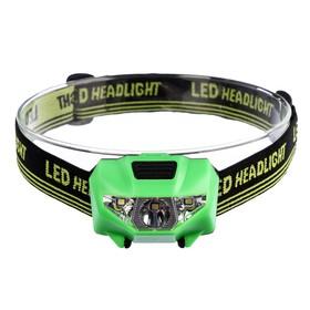 "Фонарик налобный ""Мастер К"", 3 LED, 2 типа освещения, 3 режима, 3 ААА, микс, 4.5х6 см"