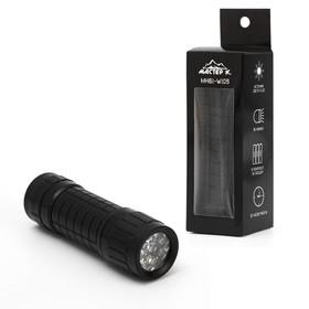 """Фонарь ручной """"Помощник"""", 9 LED, 3 ААА, 3х10 см, микс в Донецке"""