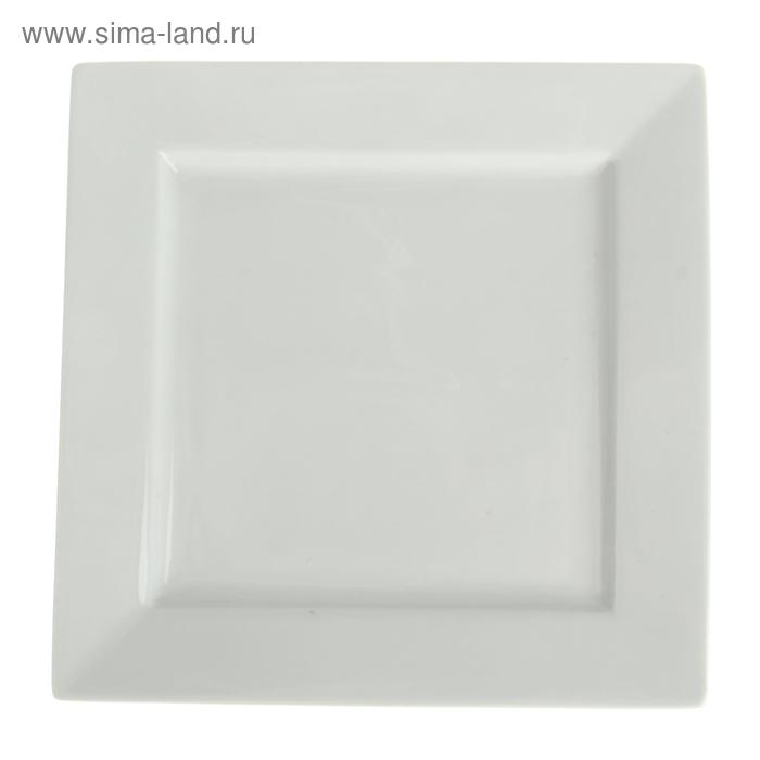 Тарелка квадратная 19*19см
