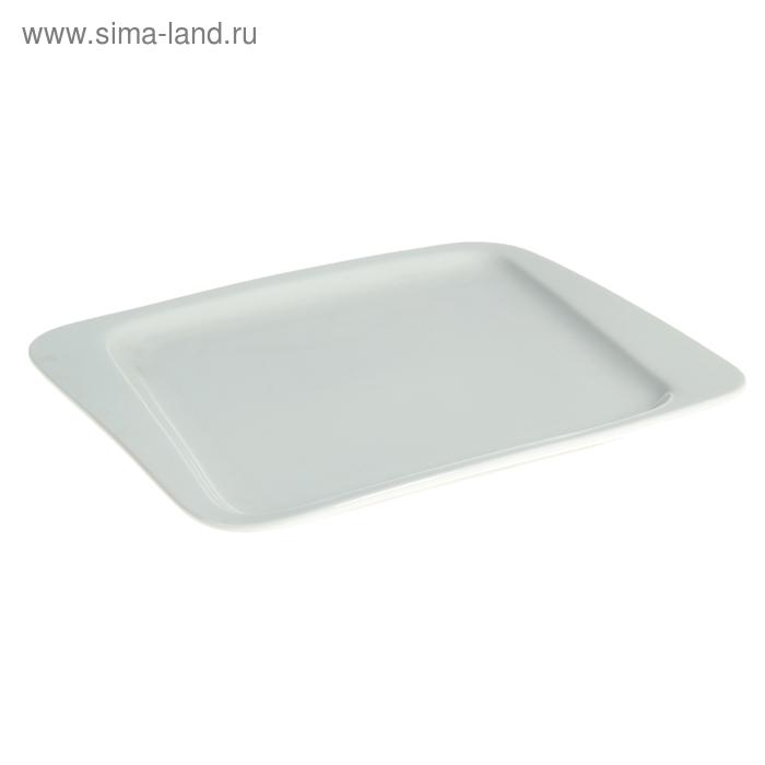 Тарелка квадратная со смещенным дном, 20 cм