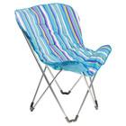 Кресло складное Lui, до 80 кг, размер 84 х 76 х 90 см, цвет сине-голубой