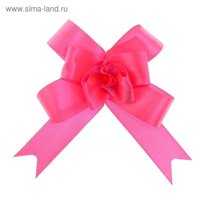 Бант-бабочка № 1,8 атласный, цвет ярко-розовый