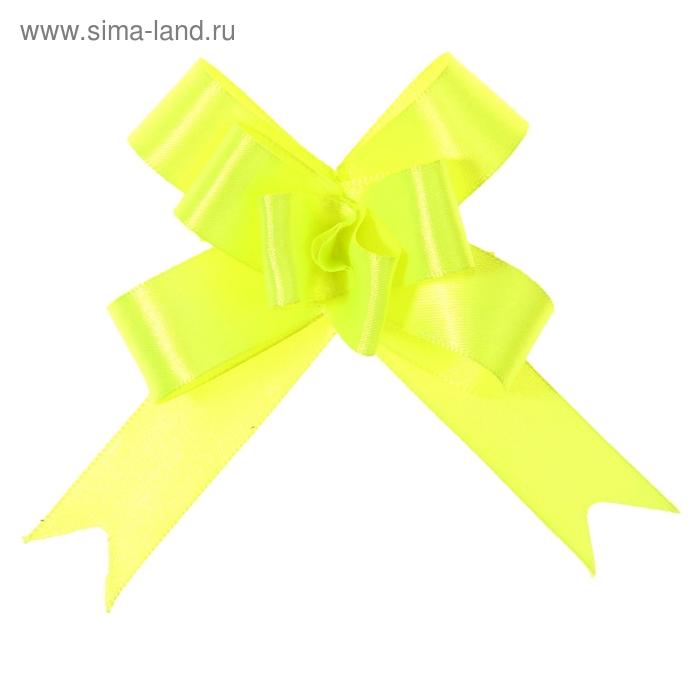 Бант-бабочка № 1,8 атласный, цвет ярко-зелёный