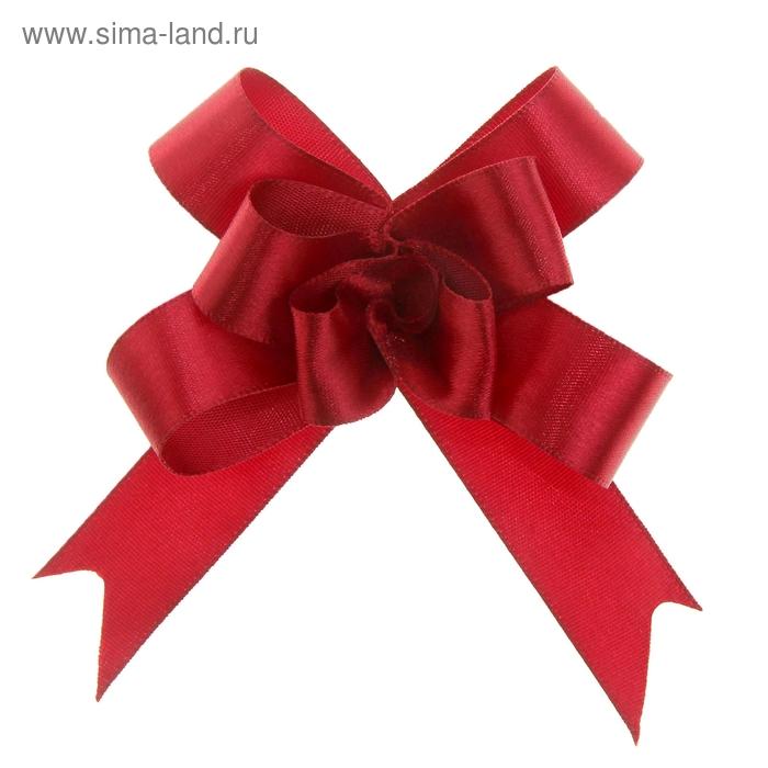 Бант-бабочка № 1,8 атласный, цвет бордовый